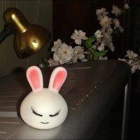 Этюд с зайчиком и старой настольной лампой :: Нина Корешкова