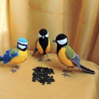 Вязаные птички милые синички. :: Hаталья Беклова