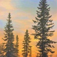 За лесом солнце восходит :: Сергей Чиняев