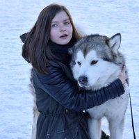 Девочка с собакой :: Анастасия Недосекина