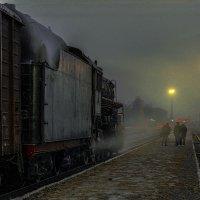 Осташков. Вечер, туман, станция. :: Игорь Олегович Кравченко