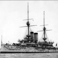 """mperial Japanese Navy  battleship """"Asahi"""", July 1900. :: Александр"""