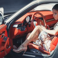 Девушка в машине :: Вячеслав Никулин