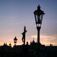 Карлов мост. На закате. :: Ольга Богачёва