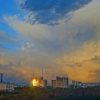 напротив заката :: Сергей Щеблыкин