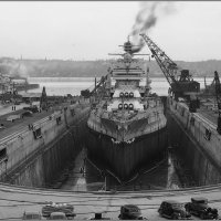 "Battleship ""USS Mississippi"" in Dry Dock No. 4,, October 22nd 1940. :: Александр"