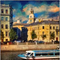 My magic Petersburg_02969 наб. р. Фонтанки :: Станислав Лебединский