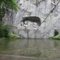 «Умирающий лев» Люцерна. Горцы. Они сражались, как львы, но это их не спасло. :: backareva.irina Бакарева