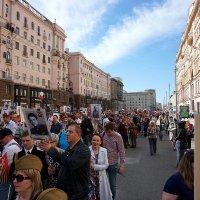 """Начало шествия """"Бессмертный полк"""", Москва, Тверская :: Alex Sash"""