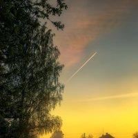 В деревне вечером :: Михаил Александров