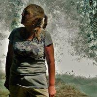 У горного водопада... :: Sergey Gordoff