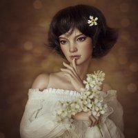 Девушка с цветами :: Алиса Колмагорова