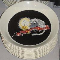 Тарелка с муми-троллями :: Вера