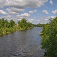 Вид с моста на Плюссу :: lady v.ekaterina