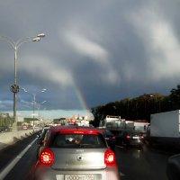 То ли это - полярная ложбина, то ли просто радуга в грозу... :: Alex Sash