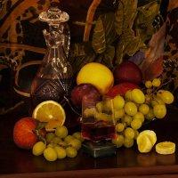Натюрморт с фруктами и вином :: Alla S.