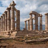 Руины храма Посейдона на мысе Сунион. Греция. :: Lmark