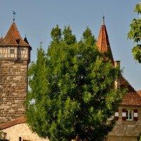 Вдоль  крепостной  стены Ротенбурга на Таубере :: backareva.irina Бакарева