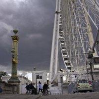 Вечер на площади Согласия в Париже :: Александр Рябчиков