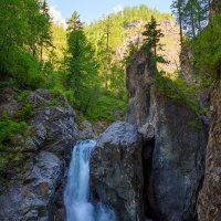 Первый водопад на Кынгарге :: Nikolay Svetin