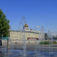 Пейзаж с фонтаном :: Татьяна Лобанова