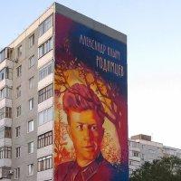 Помним, гордимся, чтим - А. И. Родимцева. Стрит-арт на многоэтажке в Оренбурге.А. И. Родимцева :: Elena Izotova