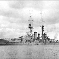 "Imperial Japanese Navy battlecruiser ""Kirishima"" at Sasebo, Japan, December 21st 1915. :: Александр"