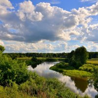 Лето. Река. Облака ... :: Татьяна Каневская