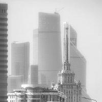 Новый Арбат, высотки, Москва-Сити :: Вера Лучникова