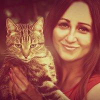 Портрет девушки с котом :: Татьяна Евдокимова
