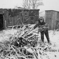 Хворост и первый снег :: Светлана Рябова-Шатунова