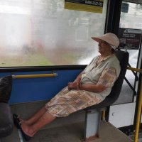 В автобусе. :: Ильсияр Шакирова