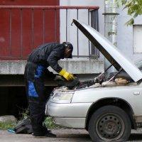 Когда нет гаража. :: Александр Кемпанен