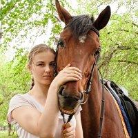 Портрет девушки с лошадью :: Albina