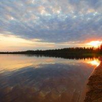 Озеро Даровое на закате солнца в августе. :: ВАЛЕНТИНА ИВАНОВА