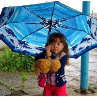 Модель с зонтом. :: Николай Тишкин