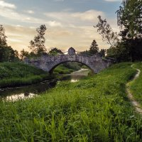 Новосильвийский мост в Павловском парке. :: Олег Бабурин