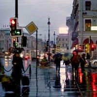 Невский, вечер, дождь... :: Ирина Румянцева