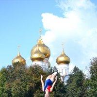 Прыжки на батуте,Ярославский полумарафон. :: Светлана Пантелеева