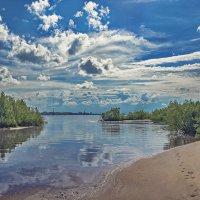Утренний отлив на  Северной Двине :: Виктор Заморков