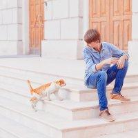 Вадим и кот! :: Ольга Егорова