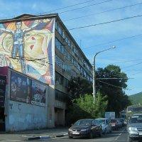 Хрущевка с мозаикой, 60е годы :: Людмила Монахова
