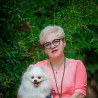 Прекрасная Светлана и ее верный друг Лорд :: Elena Bebesh