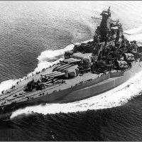 """Battleship USS """"Tennessee""""(ВВ-43) , under way, May 1943 after her refit. :: Александр"""