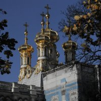 Купола Екатерининского дворца :: Наталья