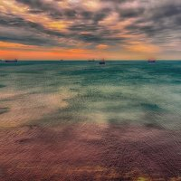 Морские закаты. :: Александр Голубов