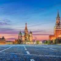 Розовое осеннее утро на Красной Площади :: Юлия Батурина