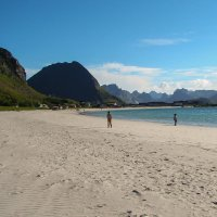 Северная Норвегия. Белые пляжи Лофотенских островов. :: Надежда Лаптева