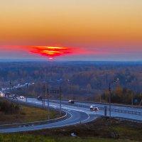 Закат на Южном объезде :: Сергей Цветков