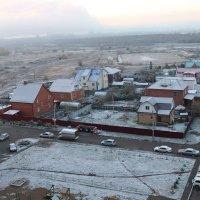 Первый снег. Вид из окна 10-го этажа. :: Вячеслав & Алёна Макаренины